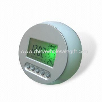 Plastic LCD Color-changing Clock with Weather Station