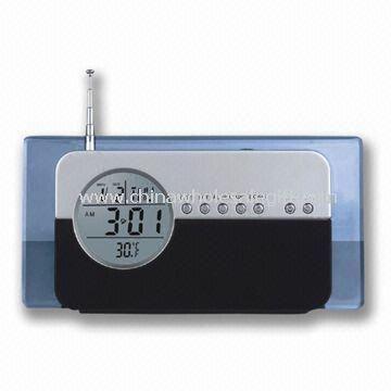 Plastic Material LCD Clock Radio