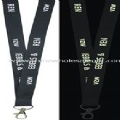 Polyester Lanyard with Glow In Dark Logo images
