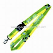 Polyester Lanyard with Heat Transfer images
