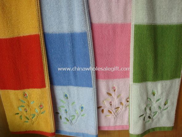 100% Cotton Embroidery Terry Towels