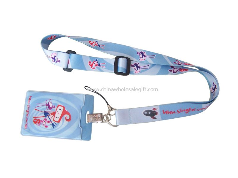 Heat-Transfer Lanyard with Card Holder