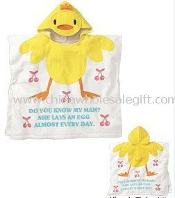 100% Cotton Velour Printed Hooded Towel