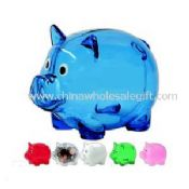 Plastic piggy bank with custom-made logo printing images