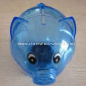 Semi-transparent Plastic Piggy Coin Bank images
