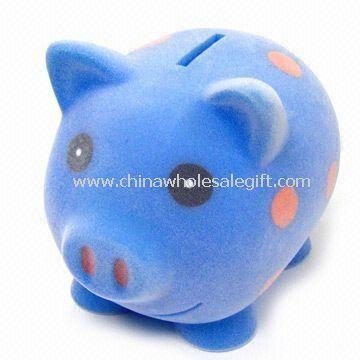 Plastic Fuzzy Pig Savings Bank
