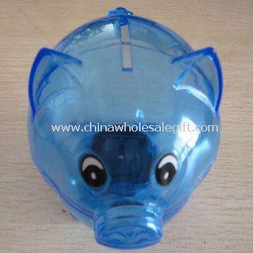 Semi-transparent Plastic Piggy Coin Bank