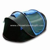 Pop-up Camping Tent Made of 1,000mm 1900T Polyester Material images