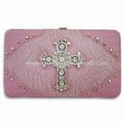 Fashionable Flat Wallet with Jesus Symbol Design on Front images