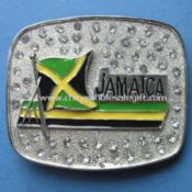 Stylish Belt Buckles with Rhinestones and Colorful Enamel images