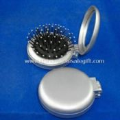 ABS and Glass Cosmetic Mirror with Flexible Brush images