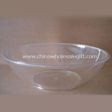 Crystal Clear Plastic Shallow Bowl