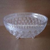 Crystal Clear Plastic Footed Bowl with Attractive Engraved Designs images