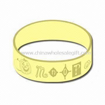 Silicone Bracelet/Wristband with Luminous Color