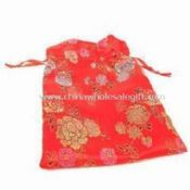 Pouch Made of Silk and Ribbon Suitable for Promotional Gifts and Jewelry images