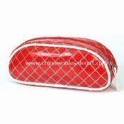 Ladies PVC Cosmetic Bag/Pouch in Red Color images