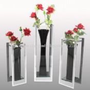 Handmade Glass Vases with Mirror Edges images