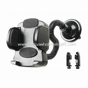 Car Mobile Phone Holder Made of Plastic with Suction-cup Base