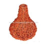 Round Orange Rattan Vase images