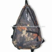 Camouflage Hunting Sling Bag with Considerable Loading Capacity and Side Mesh Pockets images