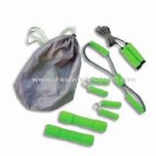 Gym Set Includes Jump Rope/Fitness Tube/Hand Grip/Soft Dumbbell images