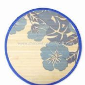 Flower Printed Bamboo Placemat in Round Shape images