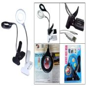 USB LED book light with Magnifying Glass images