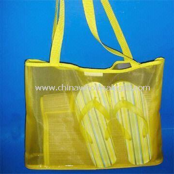 Beach Set with One Mesh Bag - Beach mat bag