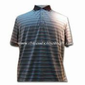 Comfortable Mens Polo Shirt Made of 100% Silk and Cotton images