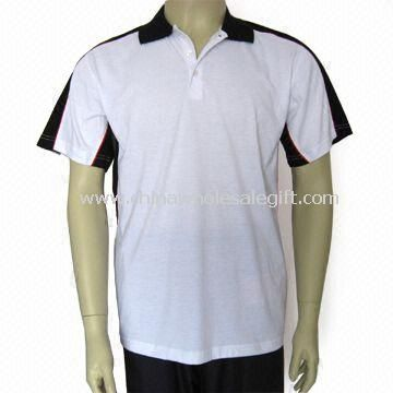 Mens Polo Shirt Made 160gsm and of 100% Polyester Mesh Dry-Fit Material