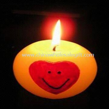 Valentine Candle with LED Flashing Bulbs