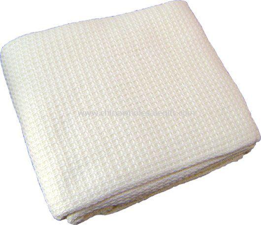 100% cotton hospital thermal cellular blanket