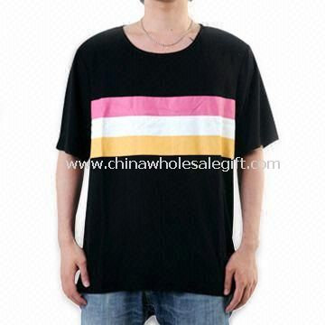 Black Mens T-shirt Made of 70% Bamboo and 30% Cotton