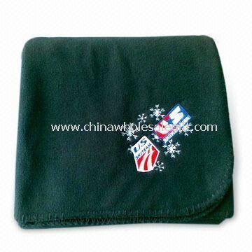 Embroidered Logo Travel/Picnic/Gift Blanket Made of Anti-pilling Polar Fleece