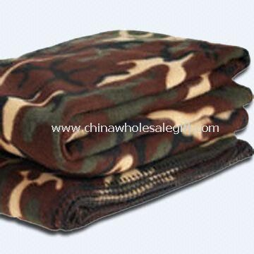 Fleece Blanket in Camouflage Military Design