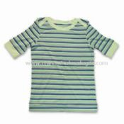 Ladys Short Sleeves T-shirt Made of 65% Bamboo 30% Cotton and 5% Spandex images