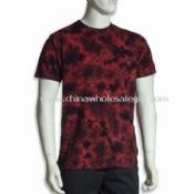 Mens T-shirt with Tie Dye and Short Sleeves images