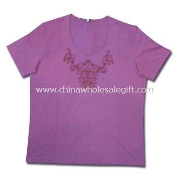 T-shirts Made of 65% Cotton and 35% Polyester Suitable for Women
