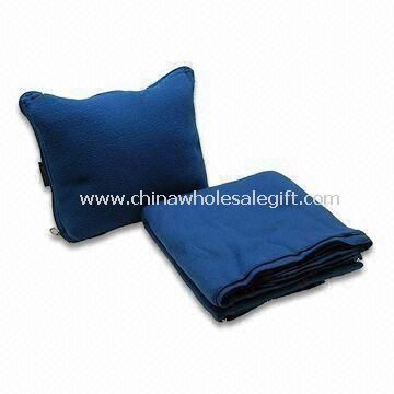 Travel Blanket Made of Double Brushed and Single Napped Anti-pilling Polyester Fleece