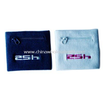 Embroidered Cotton Wrist Wallet