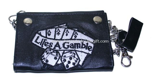 Embroidered Leather Wallets And Purses