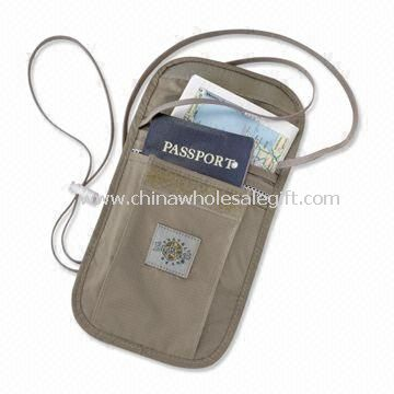 Passport Neck Pouch with Two Large Compartments