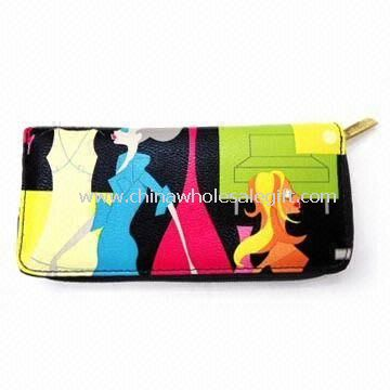 Womens PU Leather Wallet with Zipper
