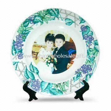 7.5-inch Sublimation Rim Plate with Vine Design