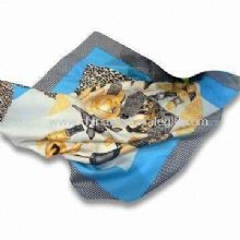Pocket Square Scarf Made of Silk and Twill Material images