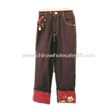 Girls Pants with Embroidery