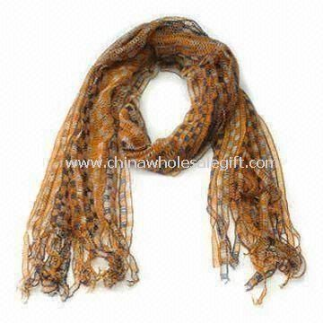Long Scarf Made of Acrylic and Polyester