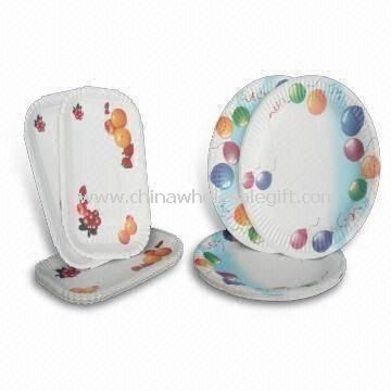 Paper Plates with Offset or Flexo Printing