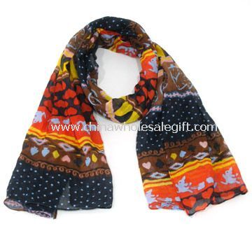 Square Scarf Made of 100% Polyester Cotton
