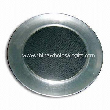 Stainless Steel Tray with Non-slip Material Centered